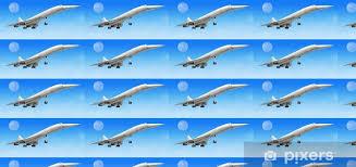 tapete concorde überschall verkehrsflugzeug flugzeug beim start oder landi