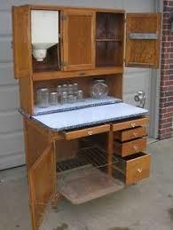 oak hoosier style mcdougall kitchen cabinet with flour bin and