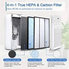 aiibot luftreiniger wohnung schlafzimmer ionisator 55 echter hepa kombifilter leise schlafmodus 3 windgeschwindigkeit gegen staub rauch