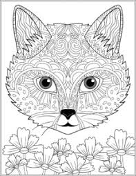 Cat Adult Coloring Sheet