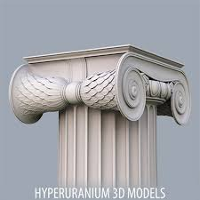 ionic column 3d obj column wood Pinterest