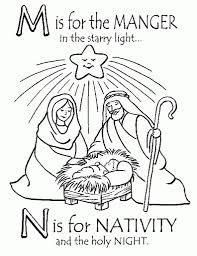 Free Printable Nativity Coloring Pages For Kids Best Inside