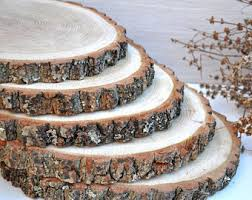 8 10 OAK Wood Slices Rustic Baby Shower Decorations Wedding Centerpieces