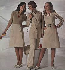 Womens Beige Outfits 1972