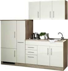 lomado single küche 210 teramo 03 hochglanz creme breite 210 cm inkl kühlschrank b x h x t ca 210 x 200 x 60cm