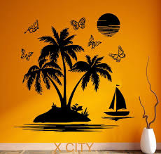 Wall Mural Decals Beach by Compare Prices On Beach Tropical Decor Online Shopping Buy Low