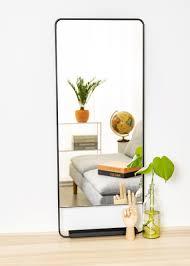 spiegel house doctor chic schwarz 45x110 cm