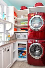 Small Laundry Room Ideas Stackable Washer Dryer Traditional With Shaker Style Stacking