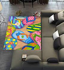 Unique Carpet Floor Rugs Mat For Home Living Dining Room Playroom DecorationFlip Flops