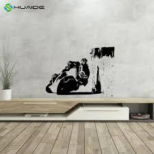 wheeling motorrad kostenloser stil run streetbike vinyl wand aufkleber wand aufkleber schlafzimmer dekoration wohnkultur aufkleber