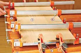 4 Long Bar Clamps On Board