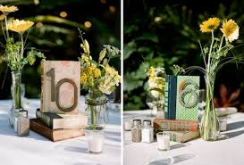 Vintage Book Wedding Centerpieces With Numbers
