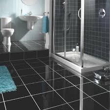 high gloss sleek bathroom flooring granite