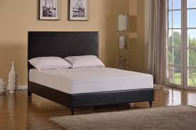 Black Leather Headboard Bed by Modern Black King Size Platform Bed Faux Leather Upholstered