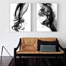 100 Pop Art Home Decor Abstract Black White Ink Splash Posters Fine Canvas Prints POP Paintings Minimalist Salon For Office Boutiques And