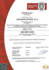 ce bureau veritas quality certificate and ethics ovobank