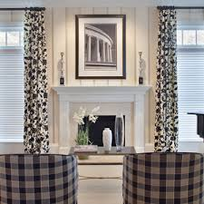 Curtains Ideas For Family Room Modern Drapes With Black And White Floral Pattern Grey Valances Window