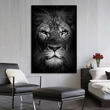 leinwand bild löwe natur deko wandbilder kunstdruck tierbilder katze ebay