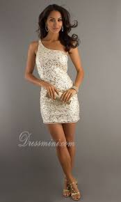 white one shoulder short mini sequins sparkly homecoming dress