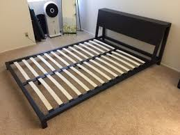 cb2 alpine gunmetal queen bed frame furniture in los angeles ca