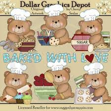 Boo Bears Love To Bake Clip Art $1 00 Dollar Graphics Depot Quality