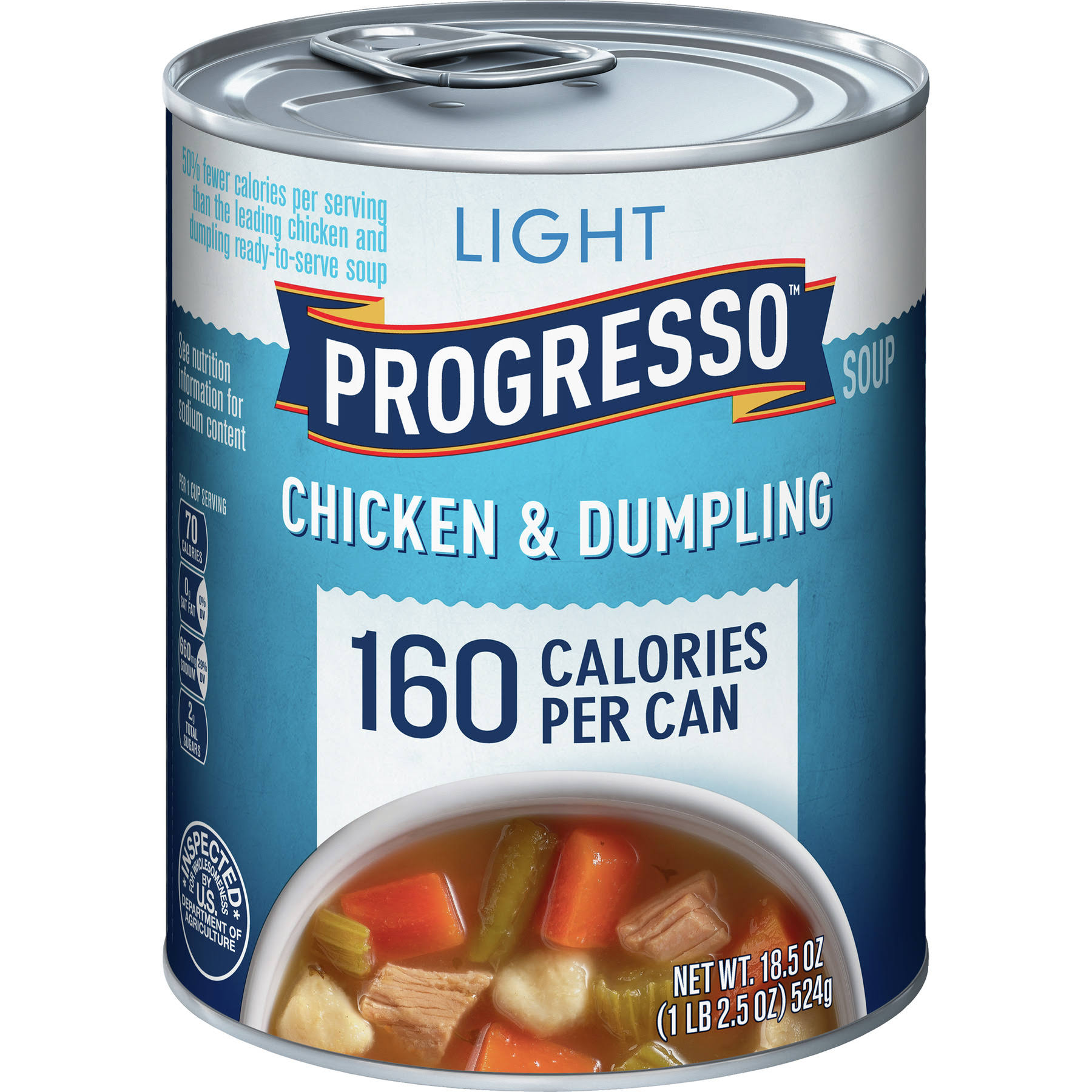 Progresso Light Soup - Chicken and Dumpling, 18.5oz Cans, Pack of 12