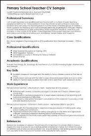 Cv Template Teacher Cvtemplate