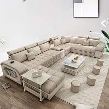 104 Modren Sofas Modern For Living Room Fabric Sofa European Sectional Sofa Set U Style 7 Seaters 1901 Living Room Aliexpress