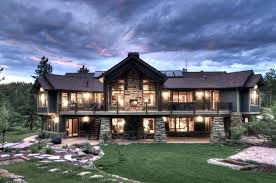 Mountain Cabin Home Plans Craftsman Style House Breathtaking Exterior View Log Of