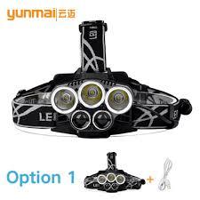 headl led cing headlight 8000lumens 3t6 2xpe 5 modes le