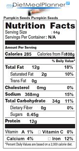 Unsalted Pumpkin Seeds Benefits by Nutrition Facts Label Nuts U0026 Seeds 7 Mydietmealplanner Com