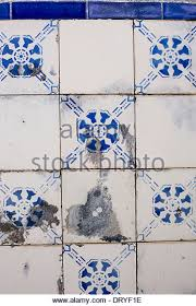portuguese azulejo tiles blue white stock photos portuguese