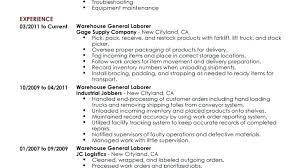 Warehouse Worker Resume Examples Jobs Skills