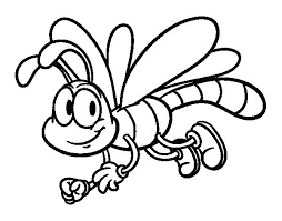 Dragonfly Coloring Page Pages Happy Pictures Simple