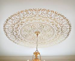 Small Two Piece Ceiling Medallions by Decorative Stencil Georgian Ceiling Medallion Wall And