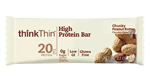 ThinkThin High Protein Bars Chunky Peanut Butter 21 Oz Bar 10 Count