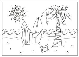 Download Free Printable Summer Coloring Pages Gigantic For Beach