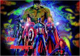 Colorful 3—5 Artisan Avengers Bedroom Decor Area Rug – Superhero