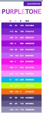Purple Tone Color Scheme Web Colors