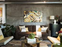 Living Room Colour Ideas Brown Sofa by Contemporary Living Room Decor With Brown Sofa And Abstract