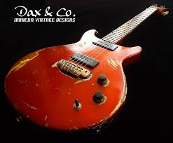 Custom Built Les Paul Jr Style Guitar Metallic Cherry Relic W High Quality Parts