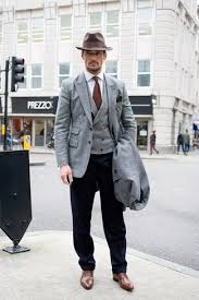 Nail That Dapper Look With A Grey Sportcoat And Black Dress Pants Elevate This Ensemble Brown Leather Oxford Shoes
