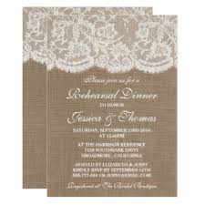 Rustic Burlap Amp Lace Wedding Rehearsal Dinner Card