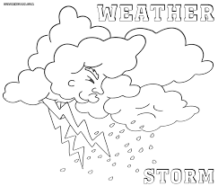Coloring Awesome Weather Pages For Toddlers Rain Instruments Sheets
