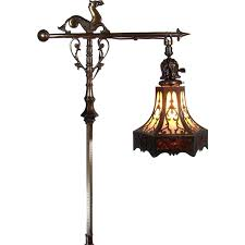 Rembrandt Floor Lamp With Table by Rembrandt Floor Lamp With Sea Horse And Lizard Pierced Arts