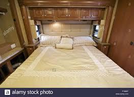Motorhome Comfortable King Size Bed Inside The Slider RV Interior