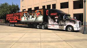 New OSU Football Equipment Truck Arrives - YouTube