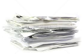 Stock Photo Piled Up Office Work Papers
