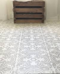 Tiling A Bathroom Floor Over Linoleum by How To Paint Your Linoleum Or Tile Floors To Look Like Patterned