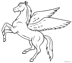 Unicorn With Wings Coloring Pages Realistic